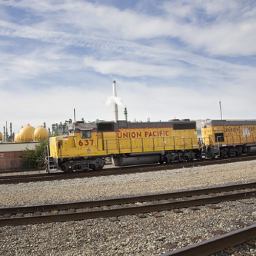 "Union Pacific Train • <a style=""font-size:0.8em;"" href=""https://www.flickr.com/photos/128012869@N08/15377813564/"" target=""_blank"">View on Flickr</a>"